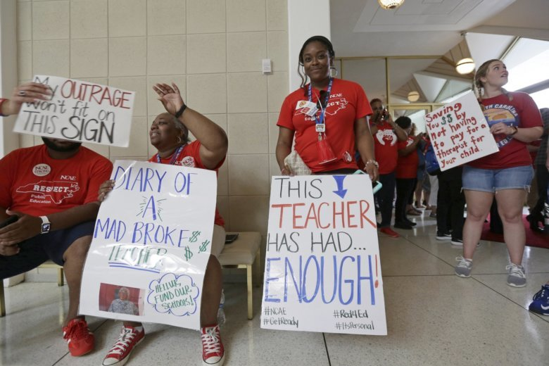 Thousands of NC teachers march for raises, school funding