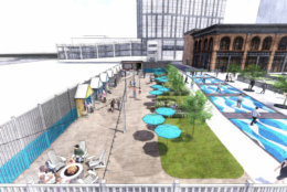 The Beach, designed for people to dine and relax, is coming to North Bethesda. (Courtesy Pike & Rose)