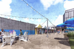 Pike & Rose also plans free fitness classes and pop-up parties throughout the summer at The Beach. (Courtesy Pike & Rose)