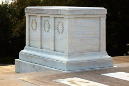 Tomb of the Unknown Soldier located in Arlington National Cemetery, Arlington, Virginia.