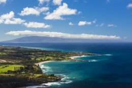 This undated photo provided by the Hawaii Tourism Authority shows a view of the Kapalua coastline in Maui, Hawaii. Kapalua Bay Beach is No. 1 on the list of best beaches for the summer of 2018 compiled by Stephen Leatherman, also known as Dr. Beach, a professor at Florida International University. (Tor Johnson/Hawaii Tourism Authority via AP)