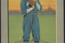 Walter Johnson, Washington Nationals, baseball card portrait (Courtesy: Library  of Congress)