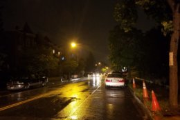 Streets around D.C. got a coating of rain on Tuesday, May 15, 2018. (WTOP/Will Vitka)