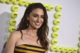 """Sara Bareilles arrives at the Los Angeles premiere of """"Battle of the Sexes"""" on Saturday, Sept. 16, 2017 in Los Angeles. (Photo by Jordan Strauss/Invision/AP)"""