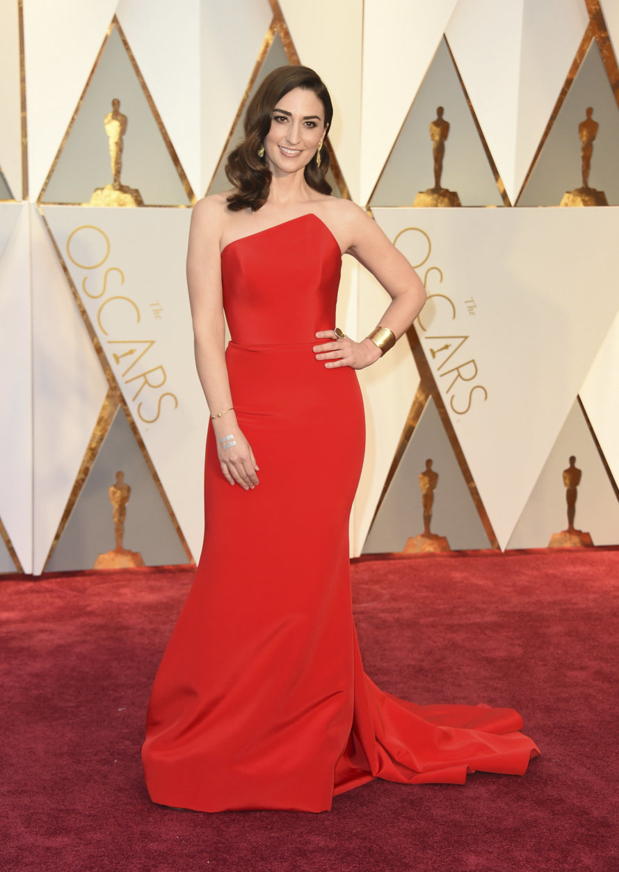 Sara Bareilles arrives at the Oscars on Sunday, Feb. 26, 2017, at the Dolby Theatre in Los Angeles. (Photo by Jordan Strauss/Invision/AP)