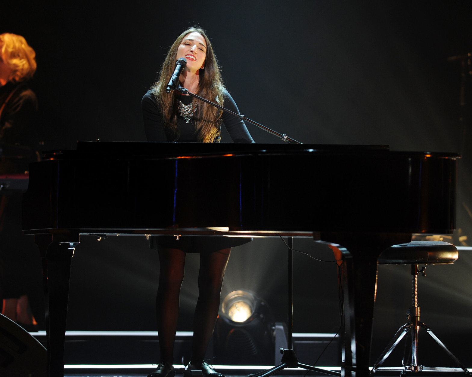 Sara Bareilles performs during the Little Black Dress Tour 2014 at the Seminole Casinos Hard Rock Live on July 25, 2014 in Hollywood, Florida.  (Photo by (Photo Jeff Daly/Invision/AP)