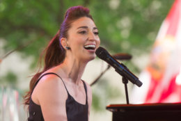 """Sara Bareilles performs on NBC's """"Today"""" show on Friday, June 6, 2014 in New York. (Photo by Charles Sykes/Invision/AP)"""