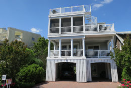 Photo shows a Bethany Beach home with a spiral staircase