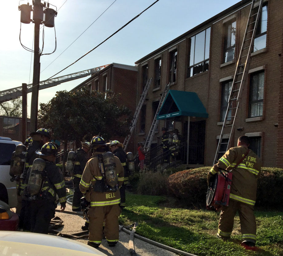Eight people are without a home Friday, May 4, after a fire in Southeast D.C. (Courtesy DC Fire and EMS)