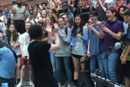 Jack White brings The Rock to Wilson High School on Wednesday. (Courtesy Karen Harris)