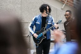 Jack White plays a surprise concert for D.C.'s Woodrow Wilson High School on Wednesday. (Courtesy David James Swanson)