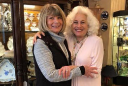 Joan Eve Shea-Cohen (right) has had two Main Street antique stores devastated by flooding in historic Ellicott City. (Courtesy Joan Eve Shea-Cohen)