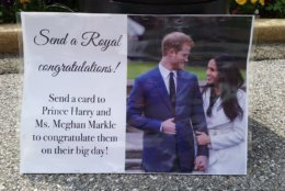 Prince Harry will marry American actress Meghan Markle and the couple will be getting some special well wishes from residents in the D.C. area. (WTOP/Kathy Stewart)