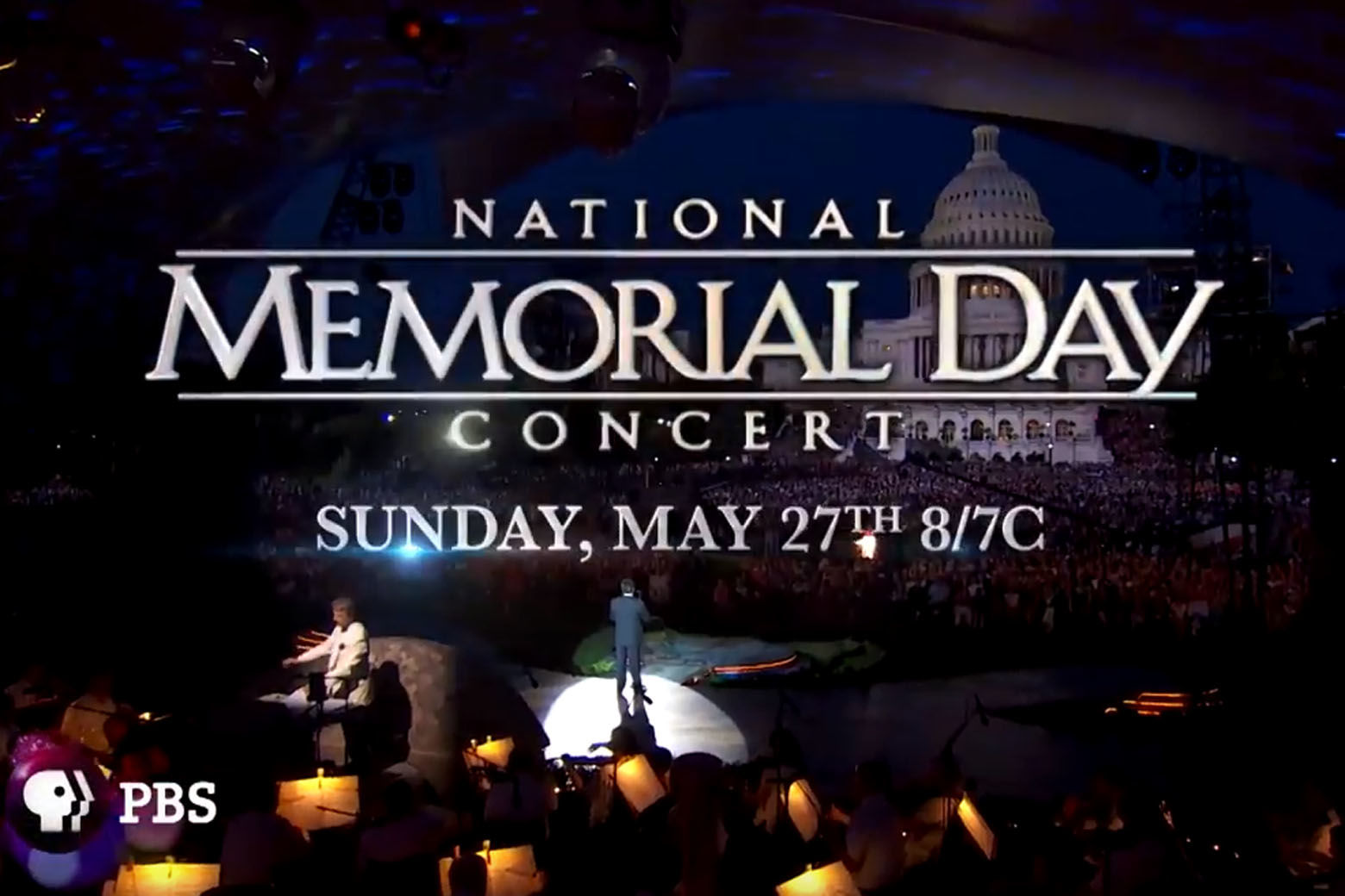 The National Memorial Day Concert returns to the National Mall in Washington D.C. on Sunday May 27. (YouTube)