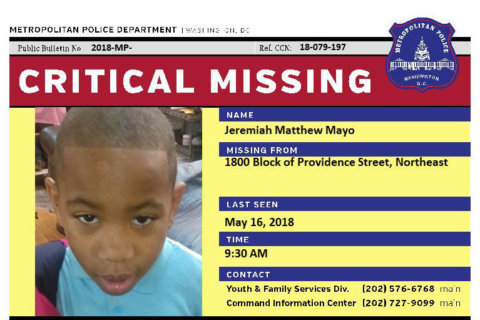 DC police: Critically missing 9-year-old boy located