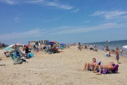 Ocean City's beach is seen