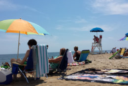 People are seen on Ocean City's beach
