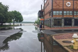 Crews are monitoring areas of the region prone to flooding, like Old Town Alexandria. (WTOP/Kristi King)