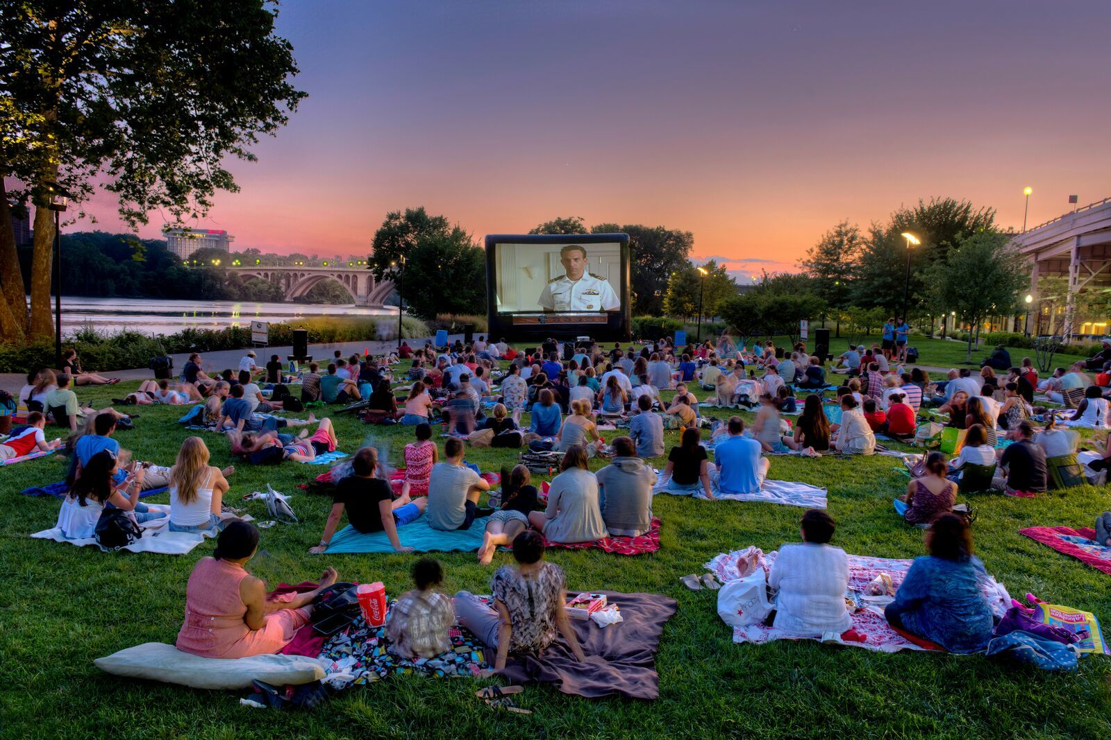 Attend an outdoor movie