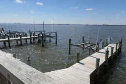 A pier overlooks water in Ocean City
