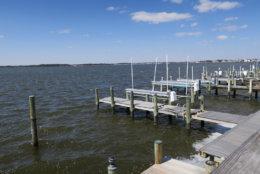 Photo shows a pier in Ocean City