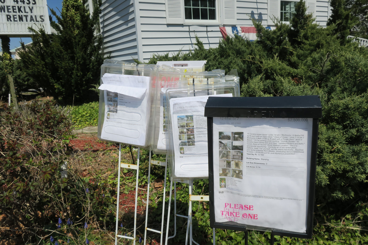 real estate flyers are seen