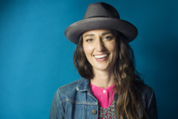 """In this Nov. 3, 2015 photo, musician Sara Bareilles poses for a portrait in New York. The singer-songwriter of hits like """"Brave"""" and """"Love Song"""" has changed gears entirely to write eclectic music for the Broadway-bound stage musical """"Waitress."""" (Photo by Victoria Will/Invision/AP)"""
