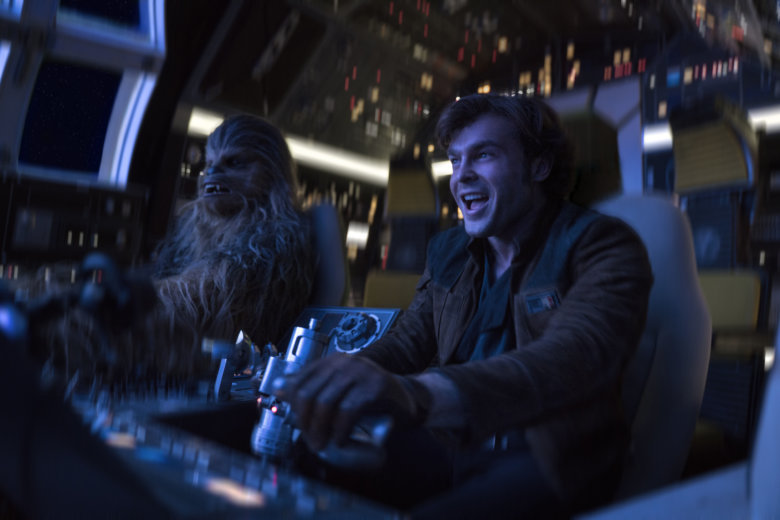 In This Image Released By Lucasfilm Alden Ehrenreich Right And Joonas Suotamo Ear A Scene From Solo Star Wars Story Jonathan