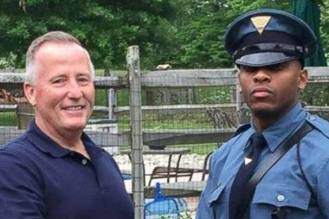 State trooper pulls over retired police officer who delivered him 27 years ago