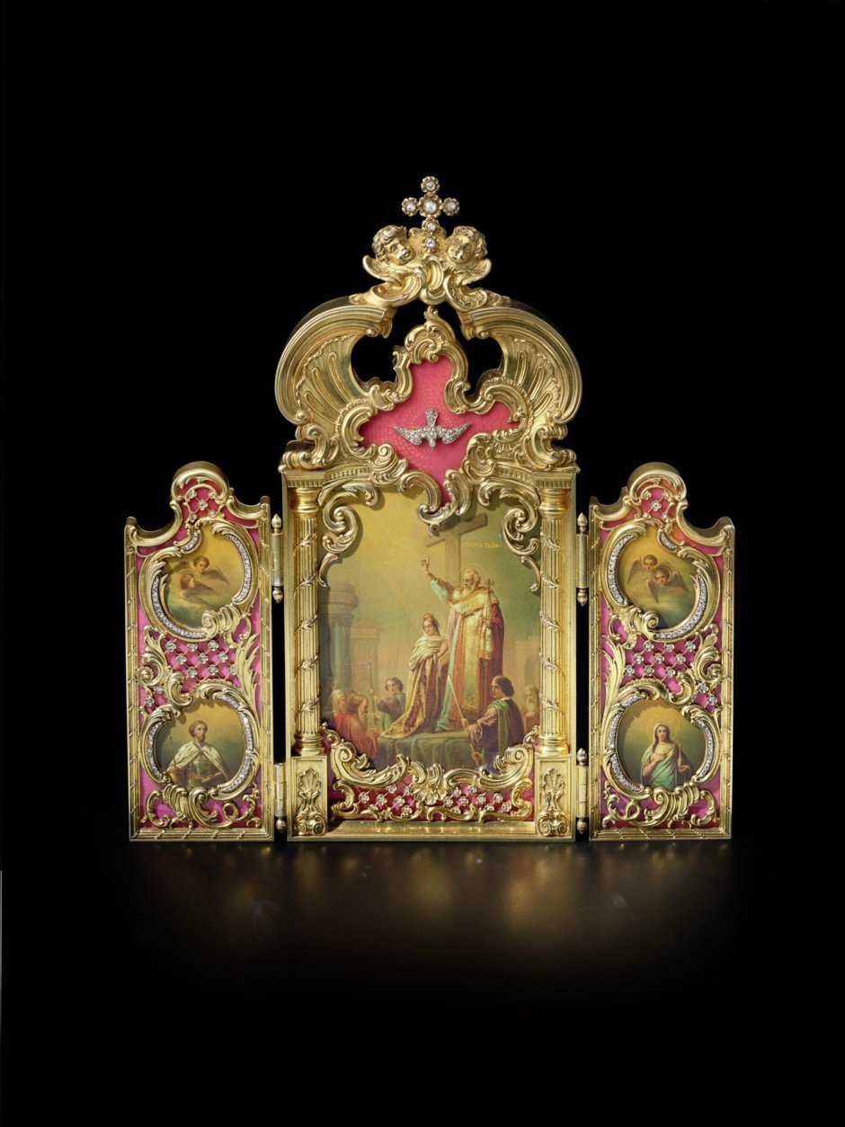 Icon of the Elevation of the True Cross, Fabergé, St. Petersburg, 1886-1898. Hillwood Estate, Museum & Gardens, acc. no. 54.29. Photographed by Alex Braun.