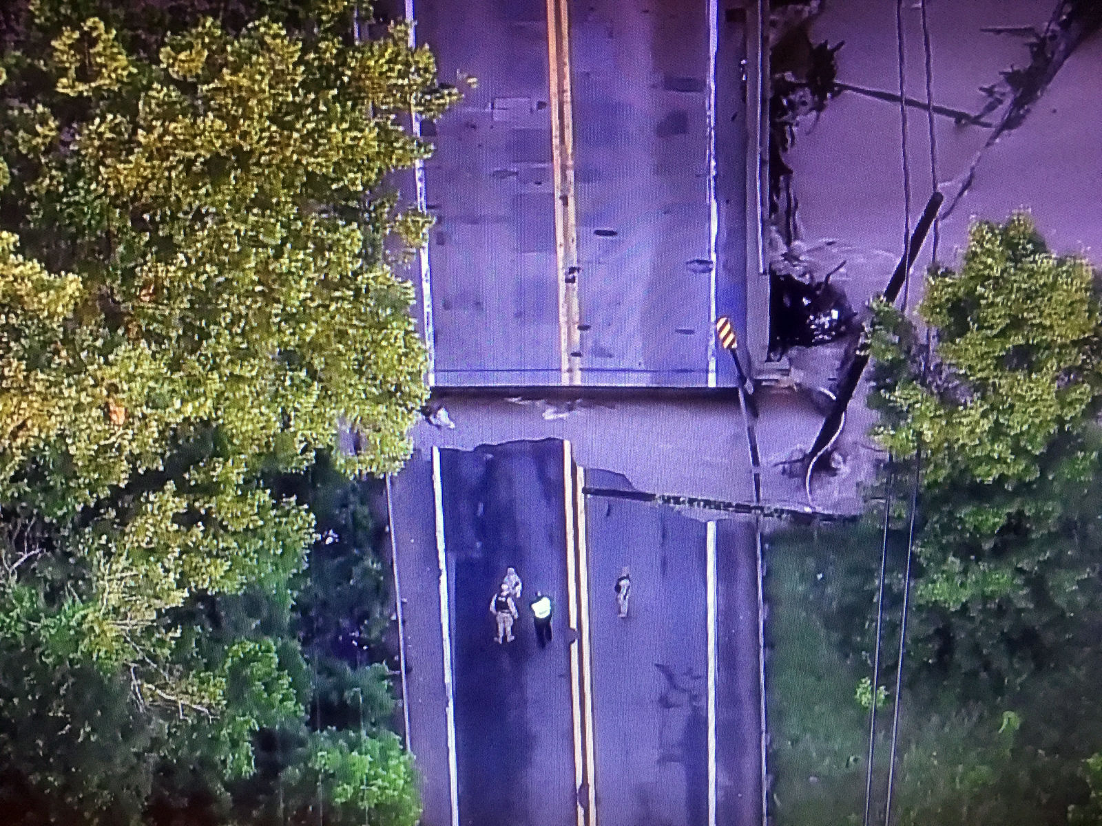A section of MD-198 just east of the Baltimore Washington Parkway is closed in Anne Arundel County due to highstanding water. (Courtesy NBC Washington)