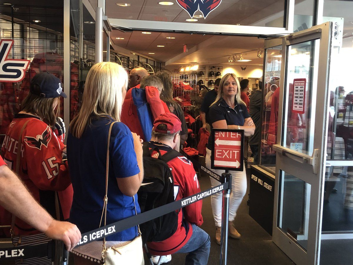 One of the biggest fans at the event was Zachary Devinger, who came with his mom. He's a part of the Washington Capitals' youth hockey team for players ages 8 and under. (WTOP/Melissa Howell)