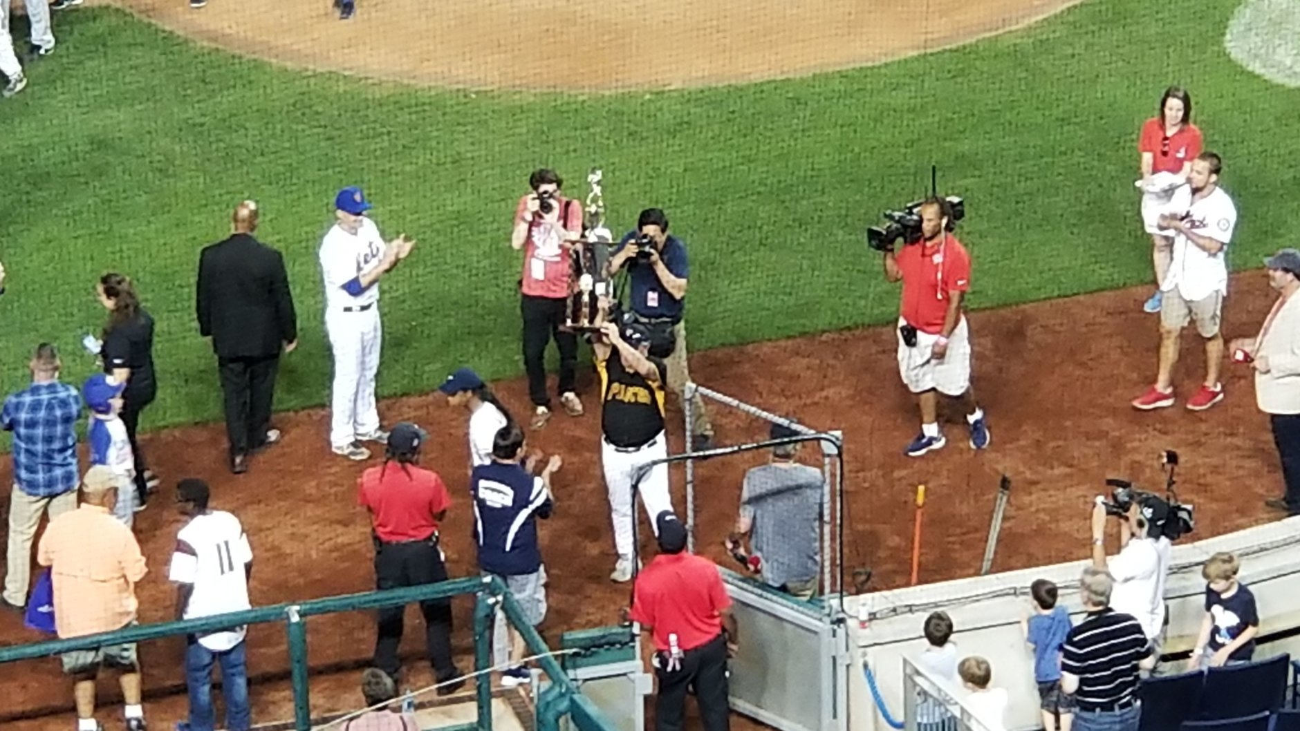 The Congressional Baseball Game ends with Democrats beating Republicans, 21-5, on Thursday, June 14, 2018. (WTOP/Albert Shimabukuro)