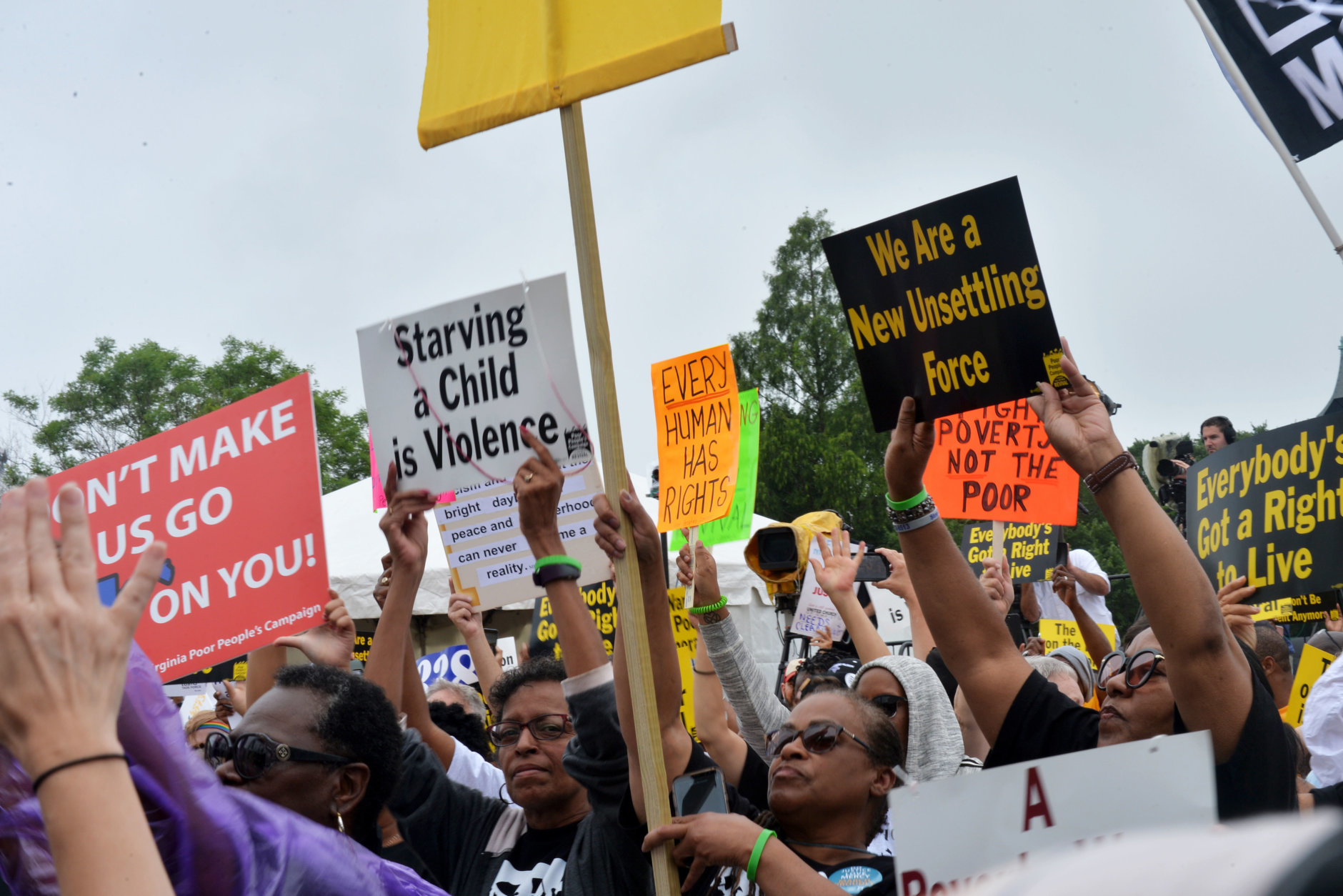 Signs at the Poor People's Campaign Rally and March