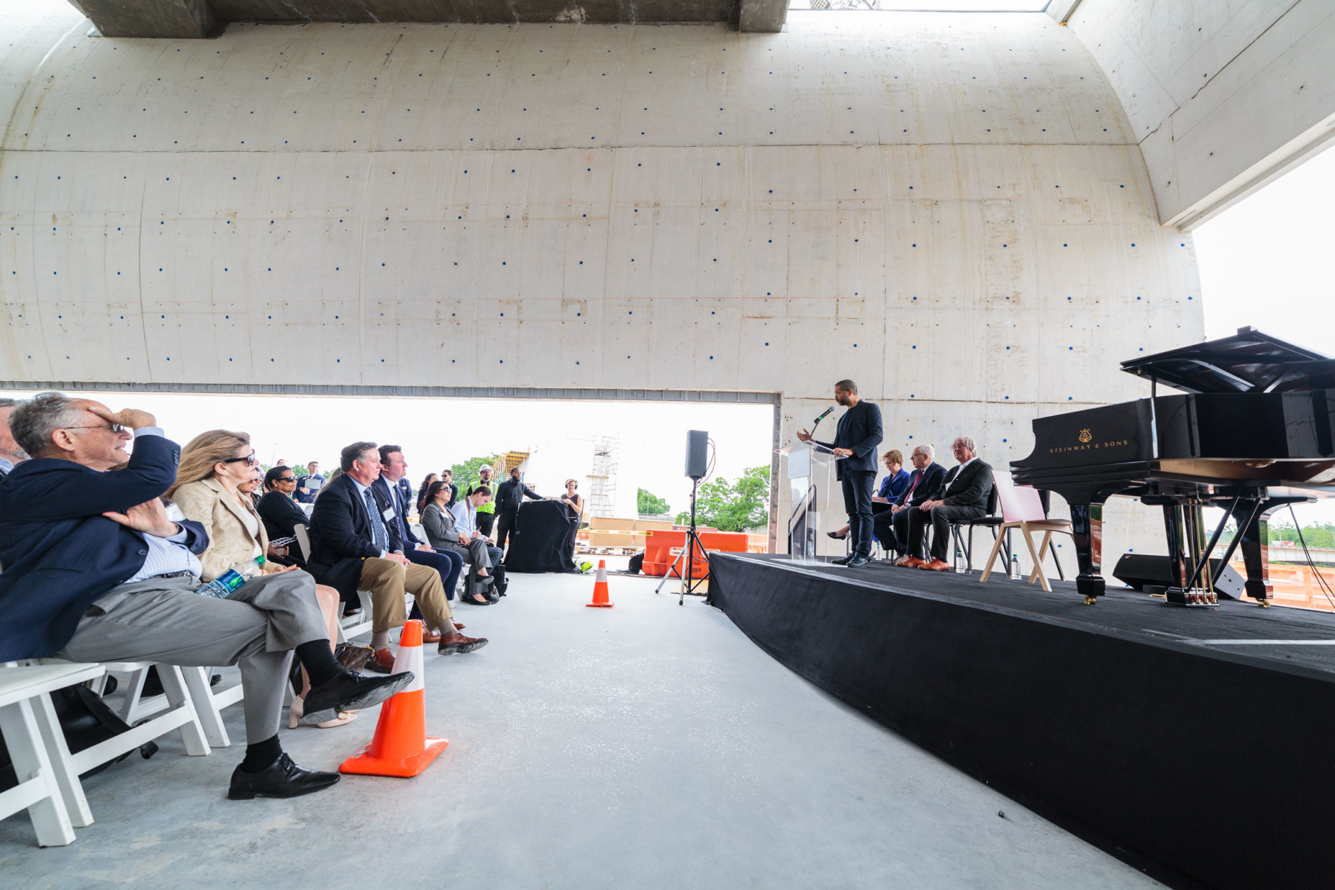 Kennedy Center musical director Jason Moran performed at Tuesday's media preview of the REACH expansion (Yassine El Mansouri)