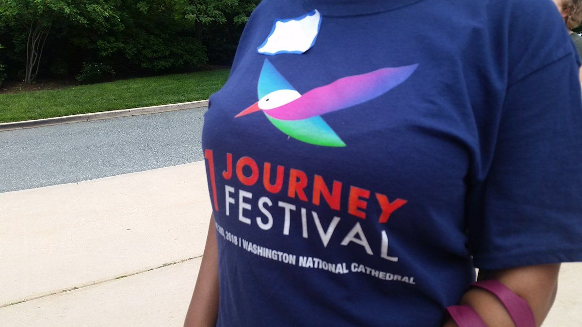 The One Journey Festival held Saturday at the National Cathedral celebrated the talents and contributions of refugees. (WTOP/Kathy Stewart)