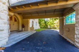 The listing said guests enter the home through a shielded porte cochere. (Courtesy Long & Foster)