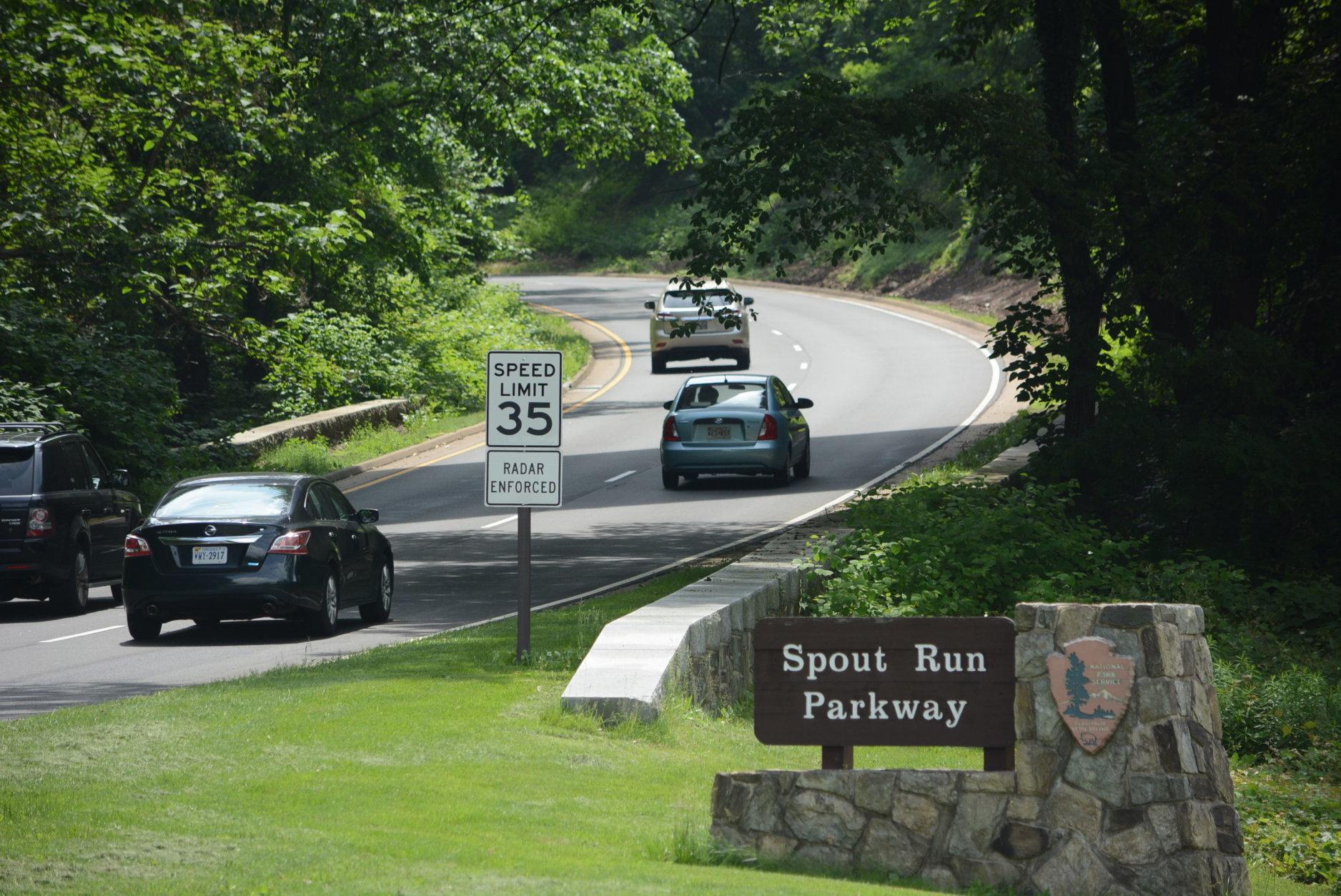 windy run spout run GW Parkway