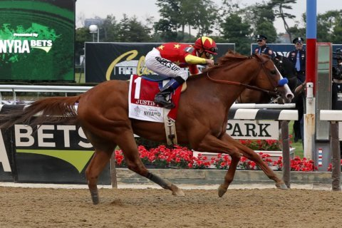 Justify wins 150th Belmont Stakes