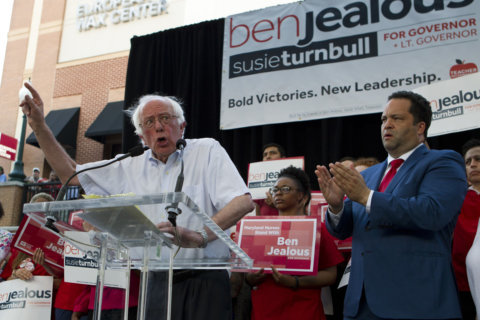 Bernie Sanders joins candidate Ben Jealous to help fire up Maryland voters