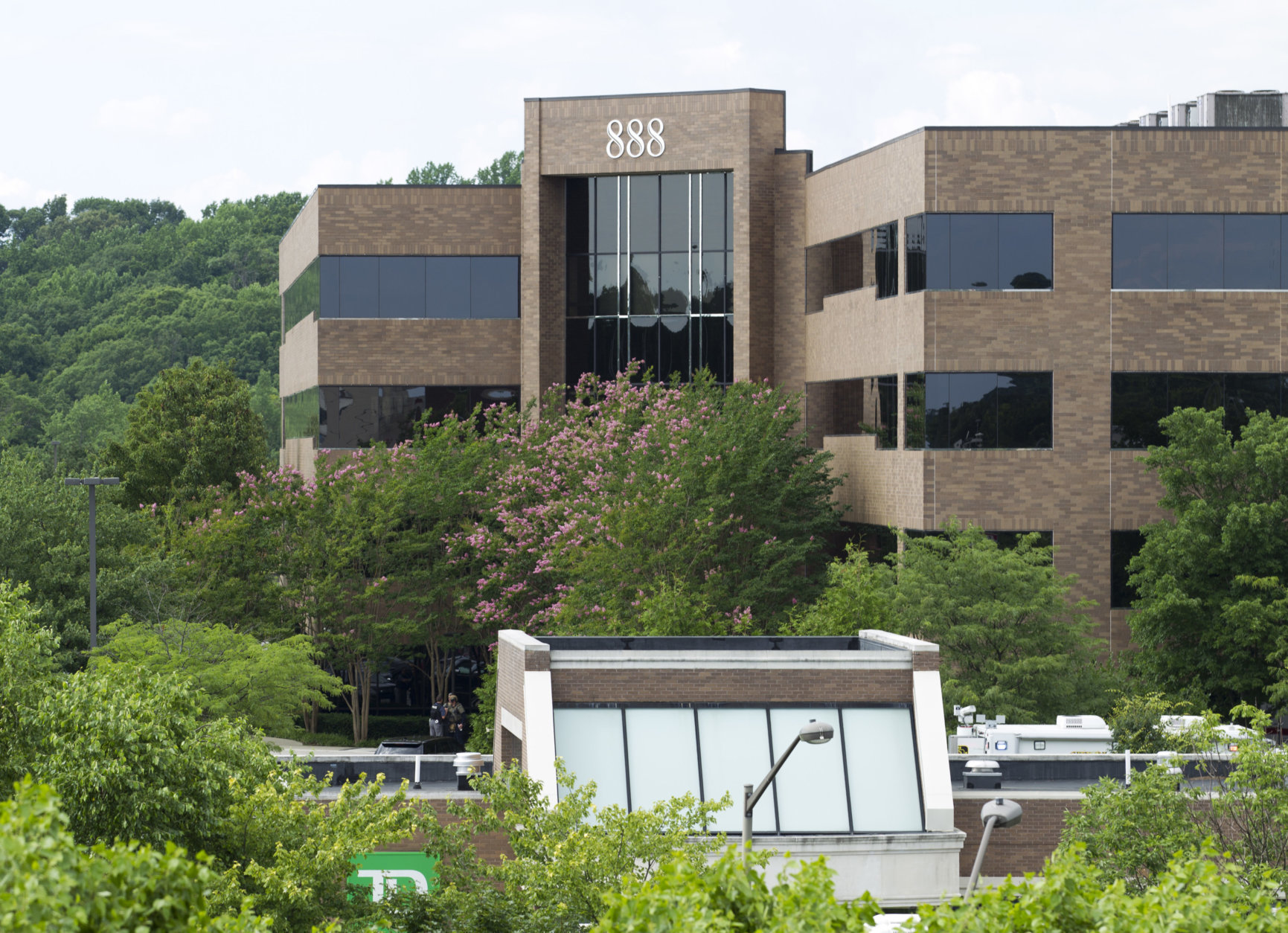 The 888 Bestgate Road building is seen after police received reports of multiple people being shot at The Capital Gazette newspaper in Annapolis, Md., Thursday, June 28, 2018. (AP Photo/Jose Luis Magana)