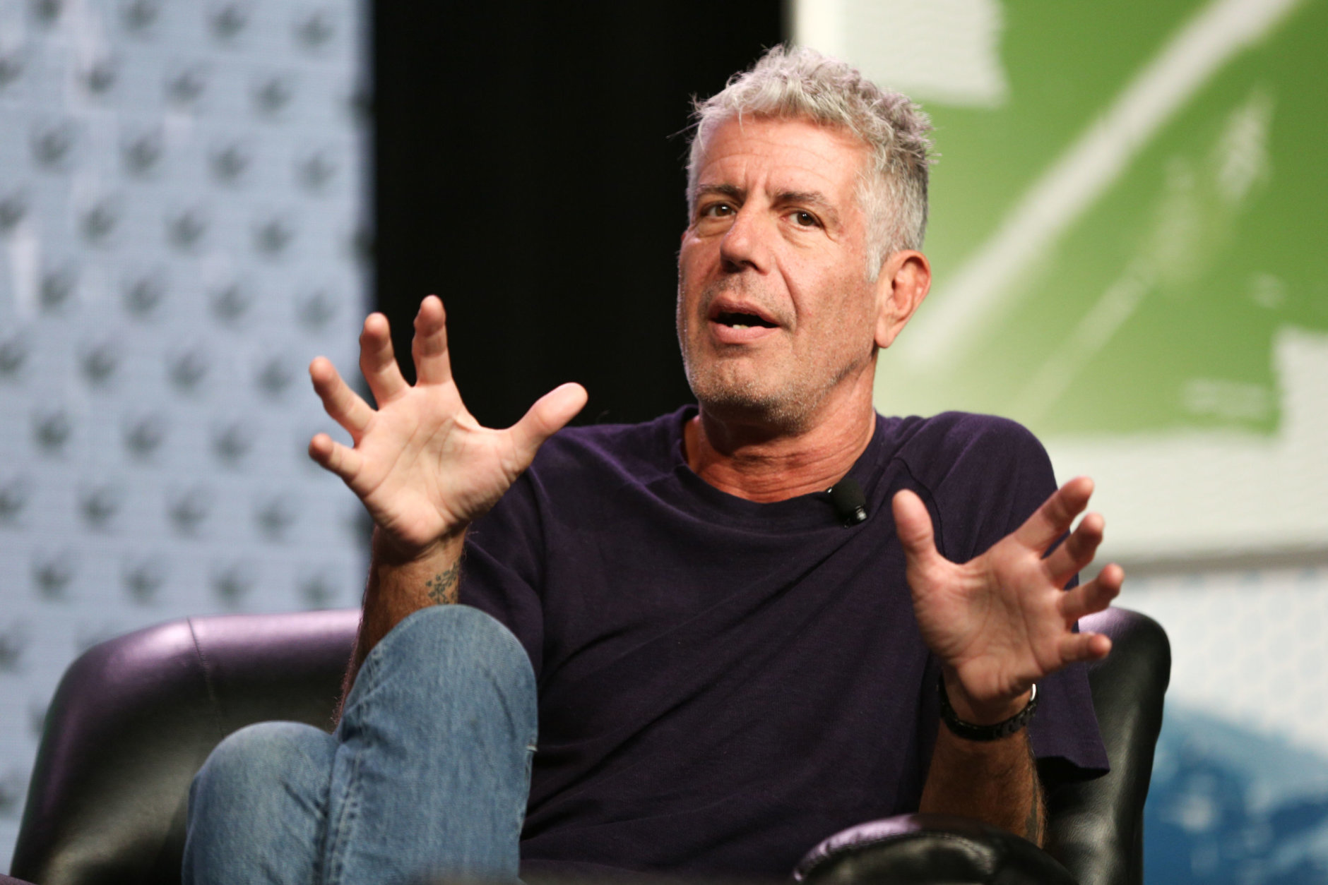 Anthony Bourdain died at 61 on June 8, 2018. The world-renowned chef is seen in the file photo speaking during South By Southwest at the Austin Convention Center on Sunday, March 13, 2016, in Austin, Texas. (Photo by Rich Fury/Invision/AP)