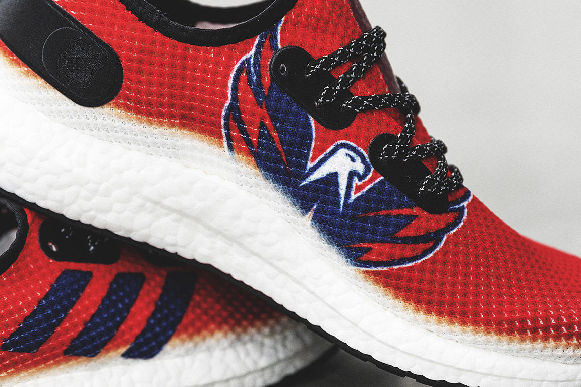 Adidas said the shoes were produced in the U.S. at its SPEEDFACTORY USA factory and went from design to final production with just a 14-day lead time, a process that usually takes 18 months. (Courtesy Adidas)
