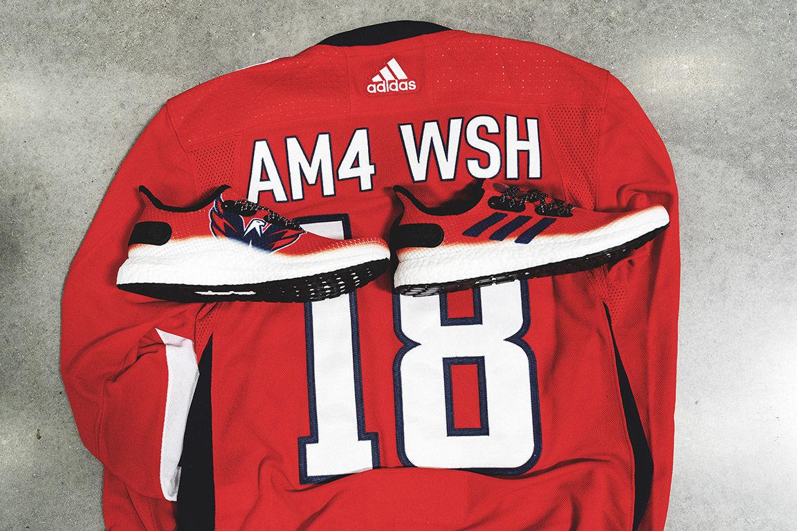 Adidas said each member of the Washington Capitals team will receive a pair. (Courtesy Adidas)