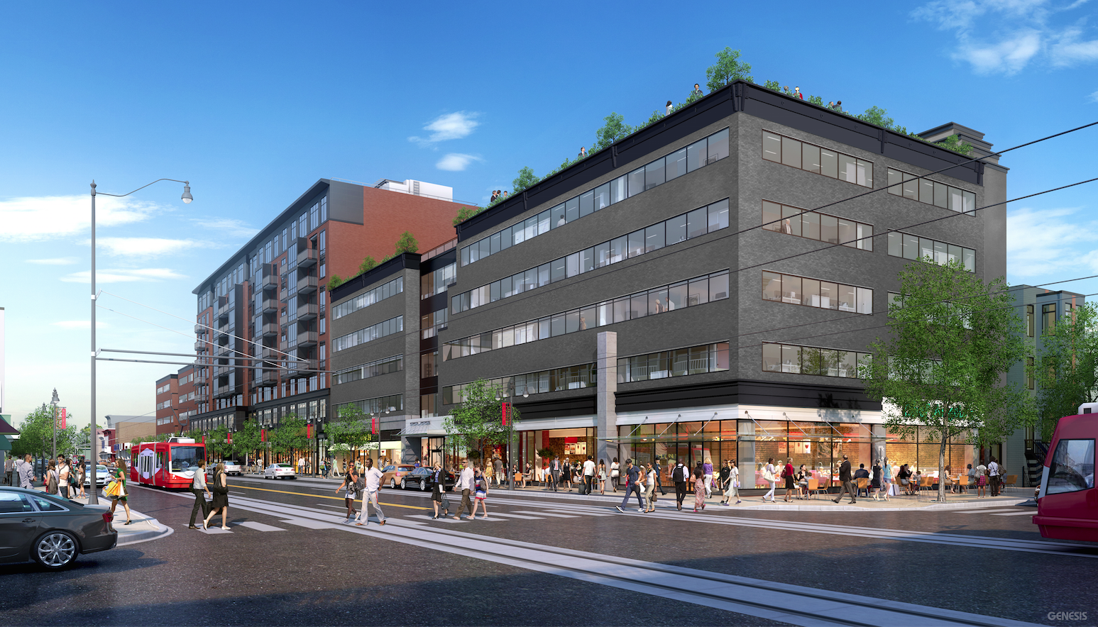 A rendering of Bond Collective's H Street building. (Credit: Bond Collective)