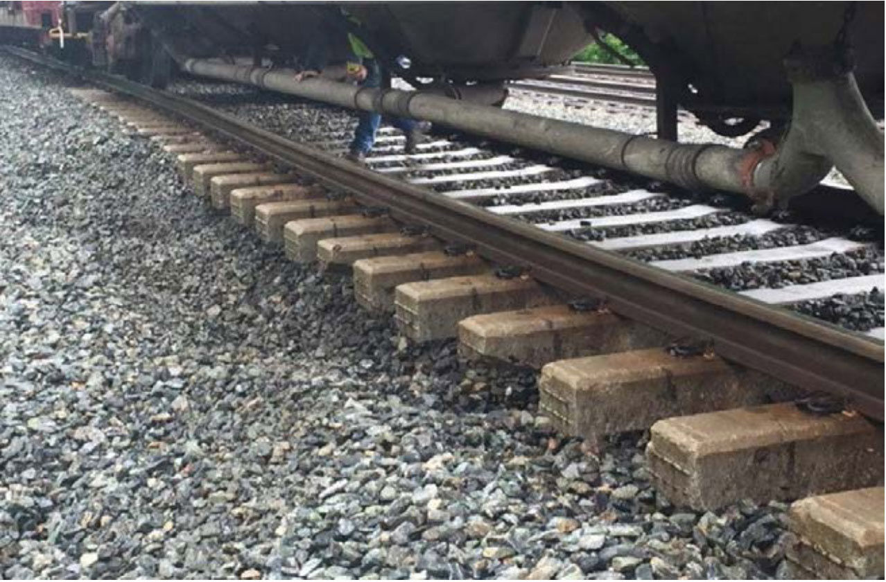 There had been heavy rain and thunderstorms in the days and hours leading up to the derailment -- five and a half inches of rain over the preceding 10 days. (Courtesy NTSB)