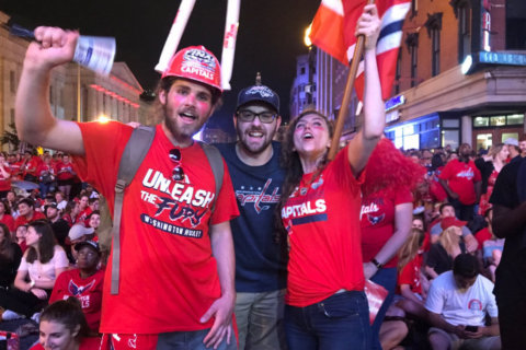 Outside the arena, Caps fans revel in Stanley Cup mania