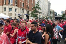 Fan say they are psyched for what is one of the greatest hockey game to be played in D.C. (WTOP/Dick Uliano)