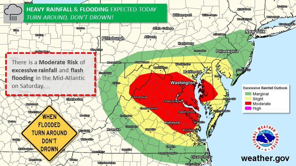 Flood watches and warnings in force across the DC region | WTOP