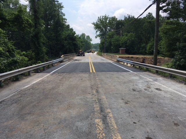 The newly repaired portion of Md. 198 over the Little Patuxent River is now in use.  (Courtesy Maryland Highway Administration via Twitter)